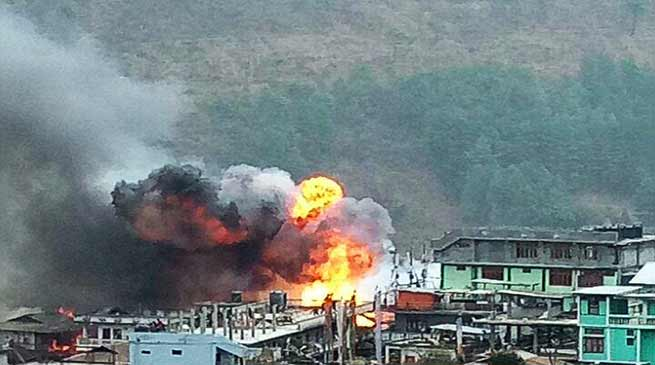Arunachal: Massive Fire breaks out in Dirang , 50 houses  gutted