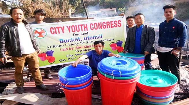 Arunachal: people are extending a helping hand to Fire victims