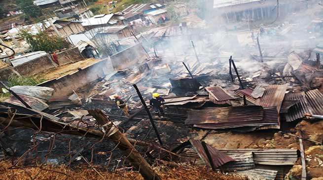 Arunachal: Major fire mishap in Itanagar remain 47 family homeless