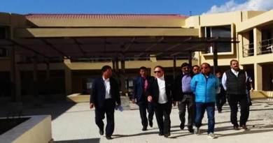 Itanagar: Rebia, Kaso inspects Convention Hall and MLA Apt