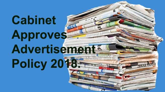 Arunachal: Cabinet approves AdvertisementPolicy 2018.