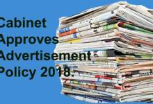 Arunachal: Cabinet approves Advertisement Policy 2018.