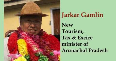 Arunachal:- Jarkar Gamlin gets Tourism, Tax and Excise portfolio