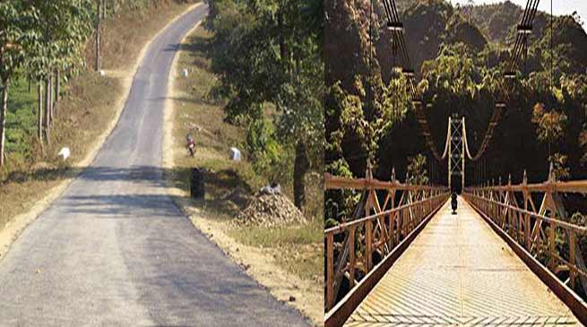 Centre sanctioned 706 Cr for road and Bridges of Arunachal
