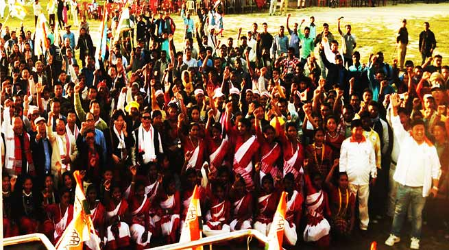 Arunachal: 3500 BJP workers rejoin Congress in Lekang Assembly Constituency