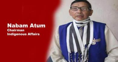 Arunachal: Nabam Atum appointed as Chairman of Indigenous Affairs