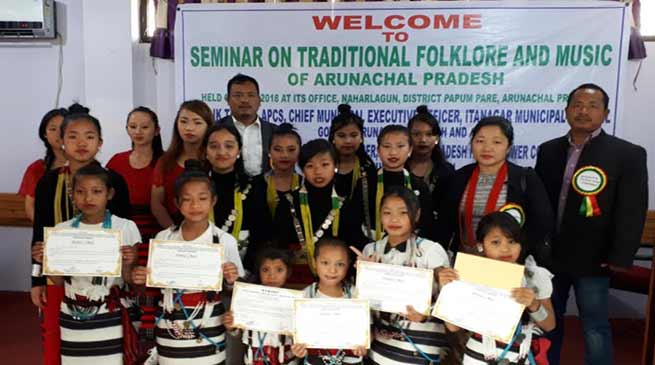 Arunachal: Training on traditional and folk art and literature