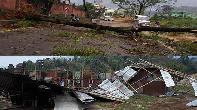 Arunachal : 400 houses, properties worth of Crores damaged due to storm