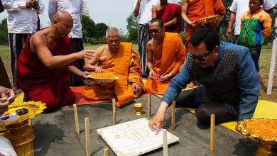 Photo of Arunachal : Mein lays foundation stone of ordination hall at Golden Pagoda