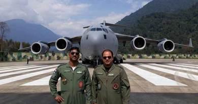 Arunachal : IAF C-17 Globemaster Landed at Tuting Airfield
