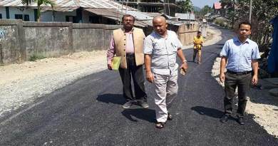 Itanagar : Carpeting of Jully-Ganga Market road on a war footing
