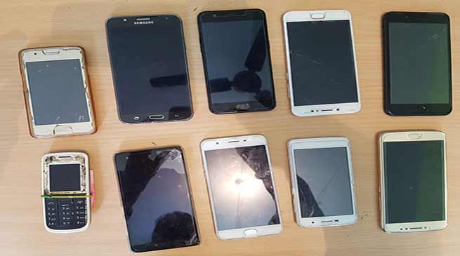 Itanagar: Capital Police recover 10 nos of cell phone