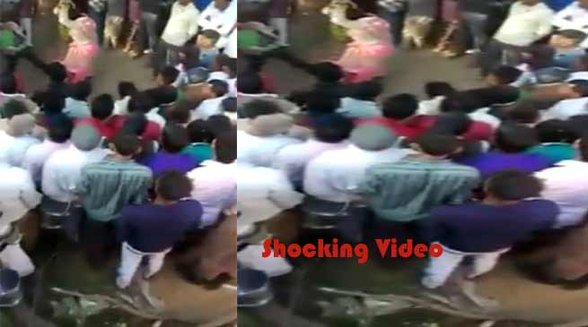Shocking Video- Women tied to tree and beaten by husband