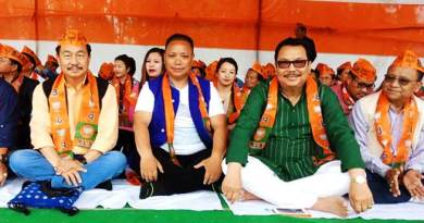 Arunachal: BJP leaders sit on Fast in IG Park
