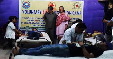 Arunachal: AVBDO organises Blood Donation Camp
