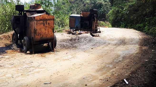 Arunachal: Itanagar-Poma-Jote road work at slow pace