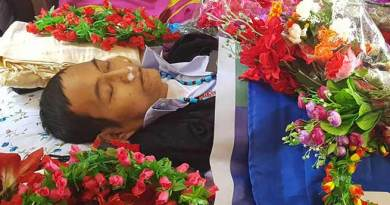 Arunachal : Darasing Tayeng Mortal remains laid to rest