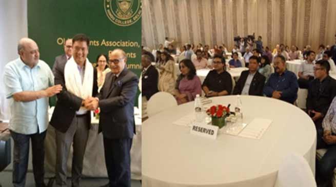 Pema Khandu felicitated by OSA of Hindu College