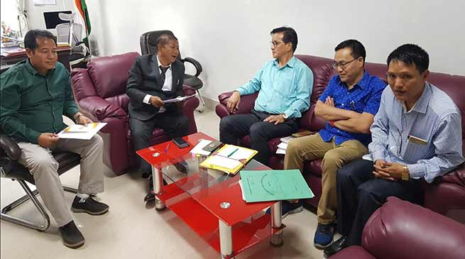 Arunachal: Bamang discuss issues related to Government Model Degree College of Palin