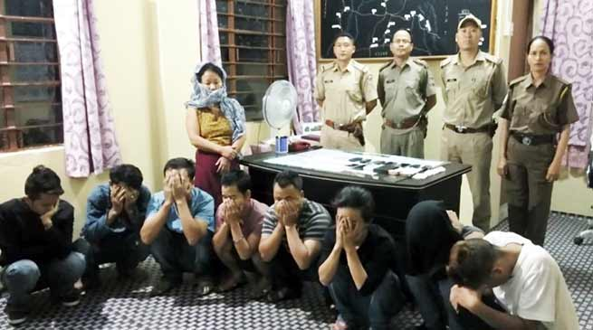 Arunachal: Roing police arrested 9 Drug peddler including a women, Govt employee and Cops