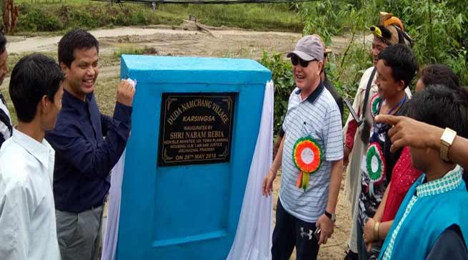 Arunachal:  Rebia inaugurates Duda Village under Banderdewa Circle