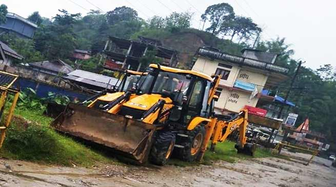 Itanagar:  Administration bans use of unauthorised earth movers in capital complex