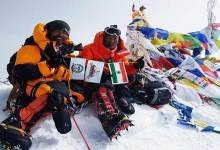 Kishon Tekseng and Taka Tamut of Arunachal scale Mt Everest
