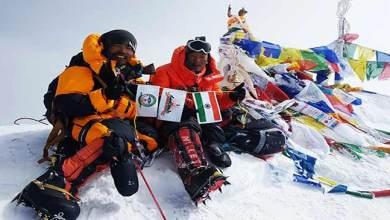 Kishon Tekseng and Taka Tamut of Arunachal scale Mt Everest