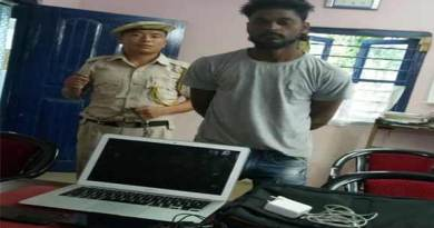 Arunachal:  Bhalukpong police arrested one person for stealing laptop