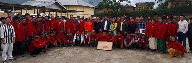 Arunachal: Pario distributes 266 TV sets to GBs of Palin constituency