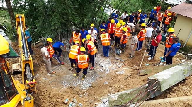 Arunachal- 5 killed after wall collapses in Itanagar