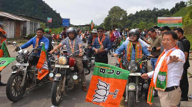 Arunachal: BJYM organises Bike rally in Lower Subansiri