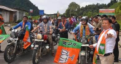 Arunachal: BJYM organises Bike rally in Lower Subansiri