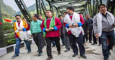 Arunachal CM inaugurates Girder bridge over Tawang-Chu river