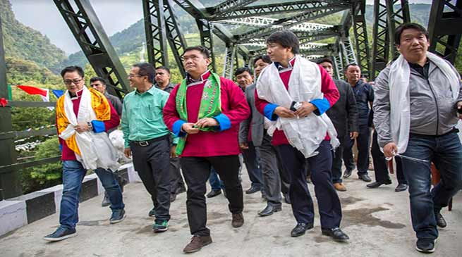 Arunachal CM inaugurates Girder bridge over Tawang-Chu river