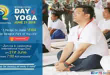 International  Yoga day 2018- Yoga for peace