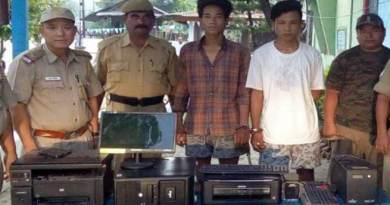 Arunachal: Police arrested 2 thieves, recovered stolen Computers and accessories