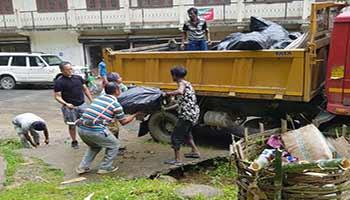 Itanagar : Capital administration conduct Social service at Ganga lake