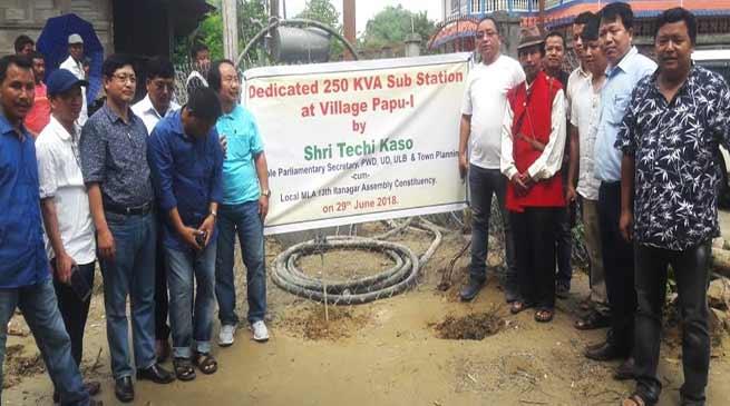 Itanagar-Techi Kaso donates power transformer to Papu-I village