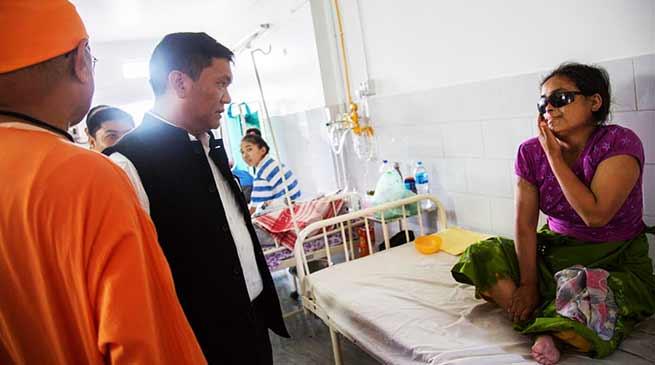 Itanagar: CM Khandu visits Rama Krishna Mission Hospital