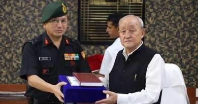 Arunachal: Maj Gen Jarken Gamlin calls on speaker Thogdok