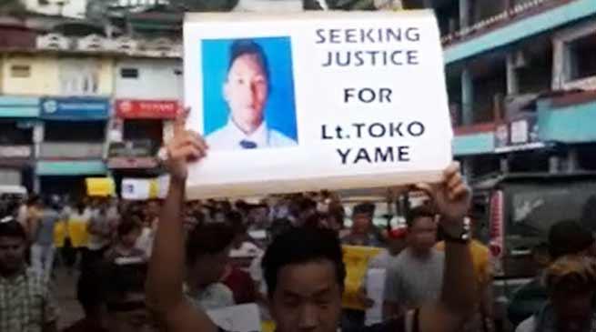 Itanagar: Toko Yame case, AEKDSU demands CBI enquiry