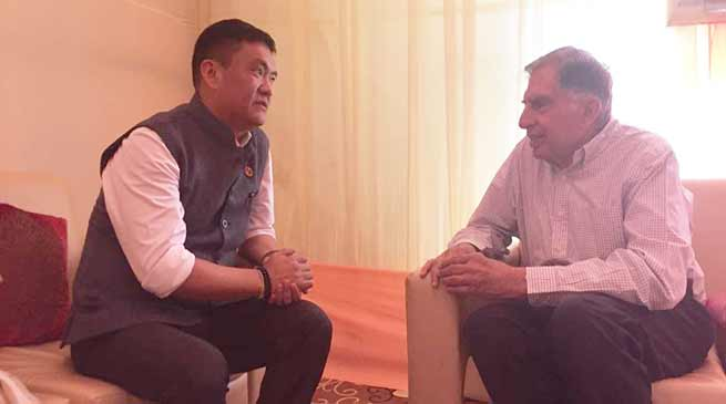 Khandu requests Tata trust to set up cancer center projects in Arunachal