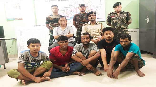Arunachal : 5 arrested, 9 mm pistol and 85 grms heroine seized by Naharlagun Police