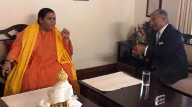 Arunachal: Governor meet Uma Bharti, discusses portable drinking water facilities