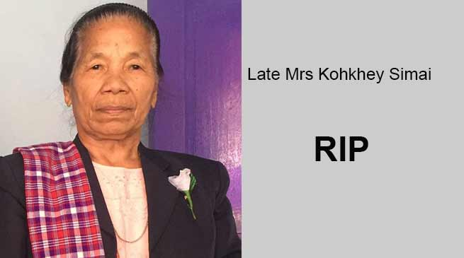 Arunachal: Mrs Kohkhey Simai, mother of BJP MLA Laisam Simai passes away