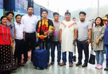 Arunachal: Young innovator Tadar Anang given gets warm welcome on his arrival to state