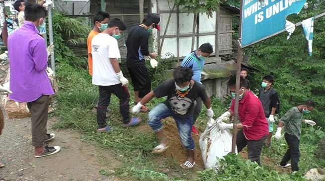 Itanagar: CCCYV organised cleaning drive at Akashdeep