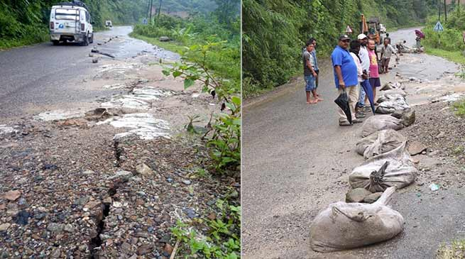 Arunachal: Cracks repaired on TAH, movement for light vehicle allowed