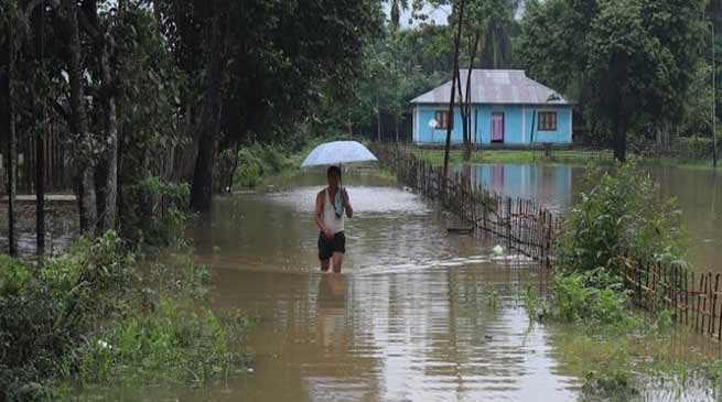 Arunachal: Hollongi Patila village submerge after heavy rain triggers flash flood